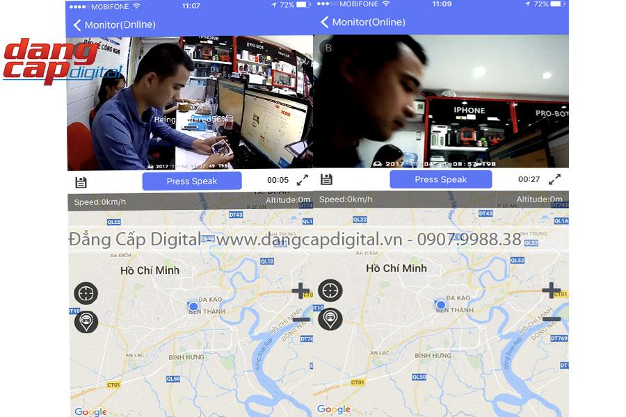 Camera hành trình Procam T98 4G, WIFI, Android 5.1, Camera trước, sau