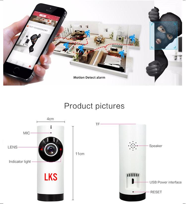 Camera quan sát IP Wi-Fi 185 độ LKS LENA X1 HD siêu nét