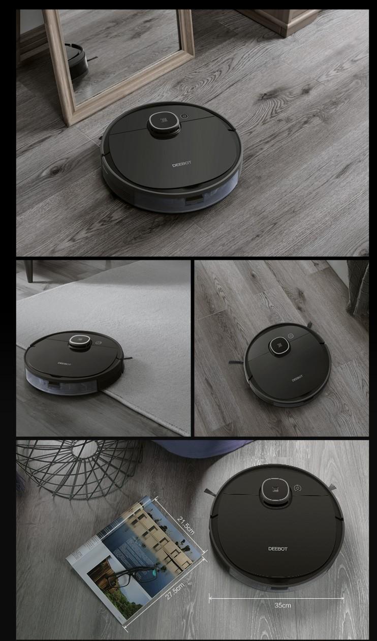 Ecovacs Deebot T5 Hero, Robot hút bụi lau nhà tự động (DX96)