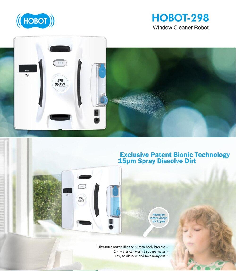 HOBOT- 298, Robot lau kính xịt nước, điều khiển điện thoại