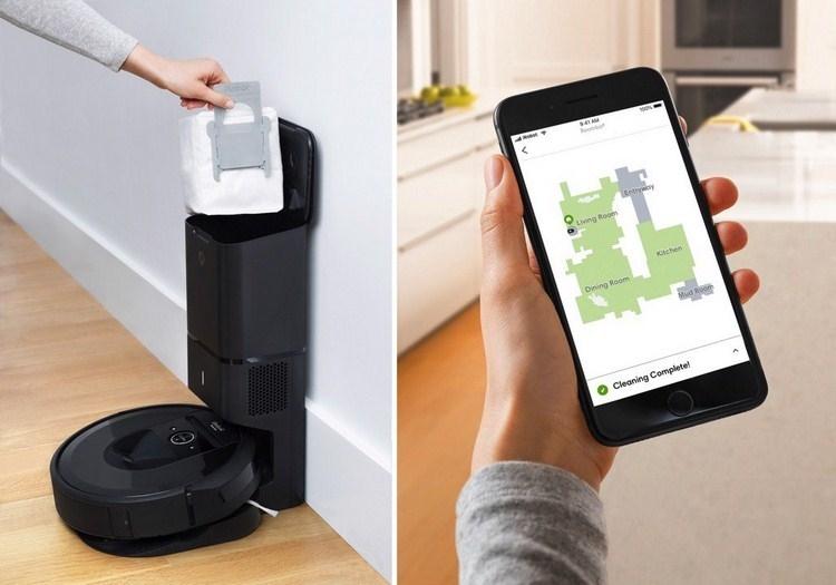 iRobot Roomba i7 Plus, Robot hút bụi tự đổ rác