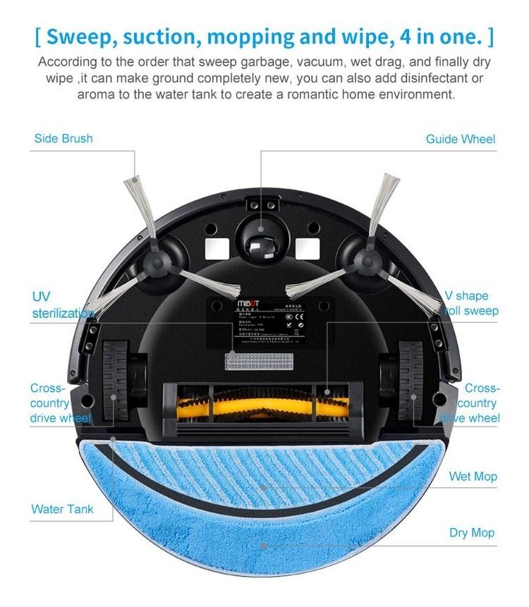 Mibot M6 UV, Robot hút bụi lau nhà diệt khuẩn UV