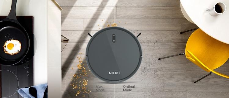 Mibot X, Robot hút bụi lau nhà tự động công nghệ AI, Google Home, Alexa