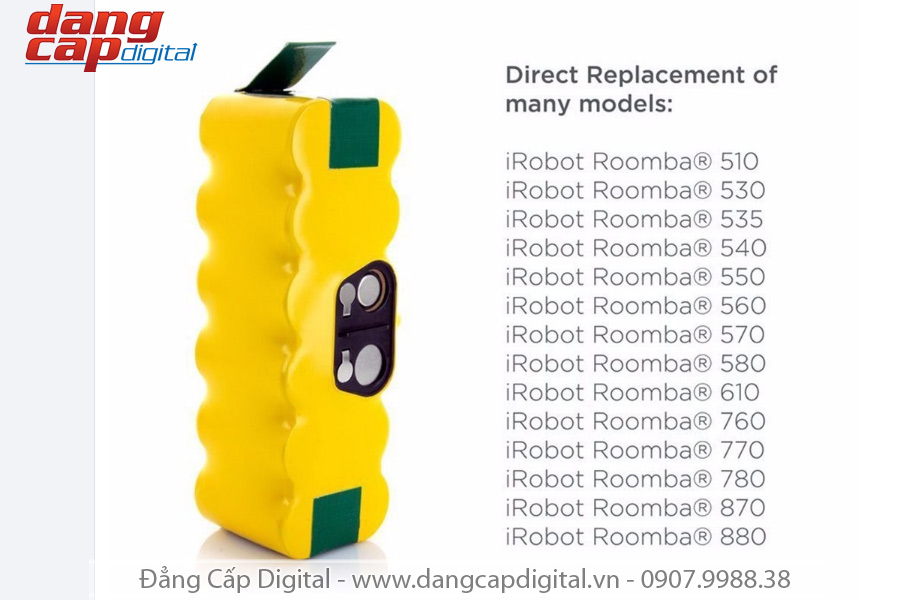 Pin robot hút bụi irobot Roomba, Roomba Lithium Battery