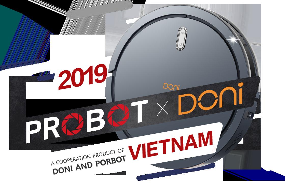 Probot Doni X, Robot hút bụi lau nhà cao cấp giá rẻ