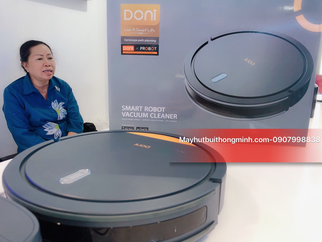 Probot Doni X WIFI 1800Pa hỗ trợ Alexa, Google Assistant