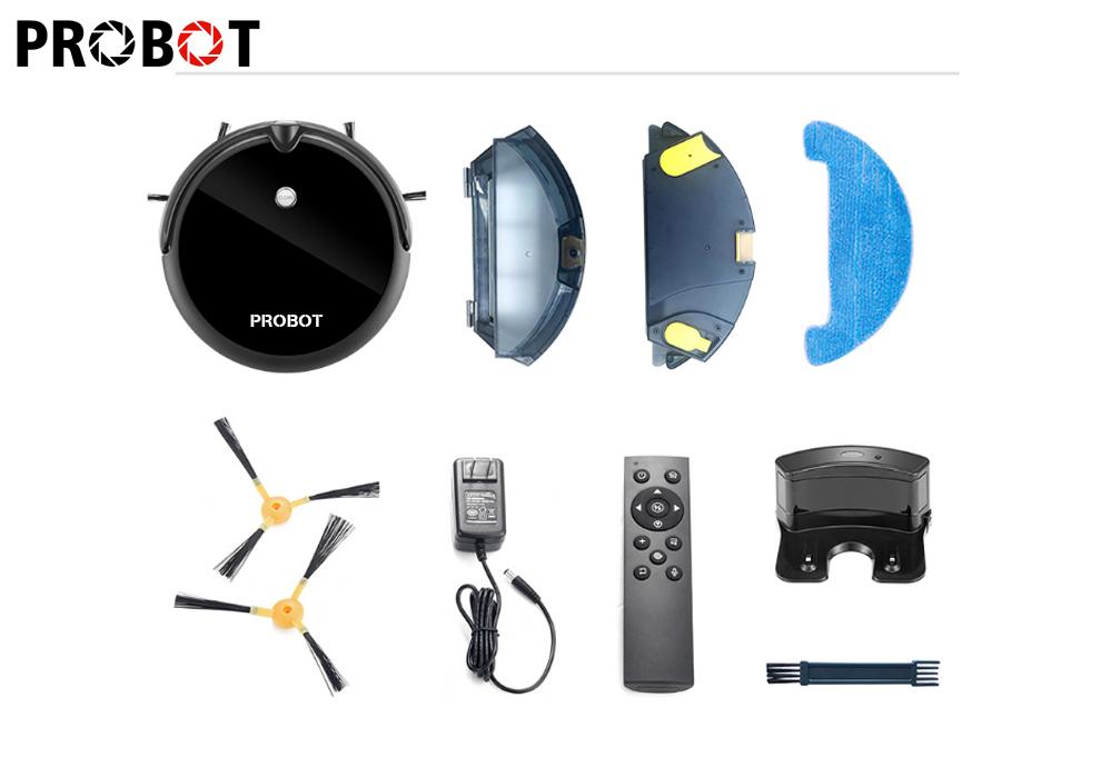 Probot Nelson A3S Robot hút bụi lau nhà tích hợp Wifi camera HD