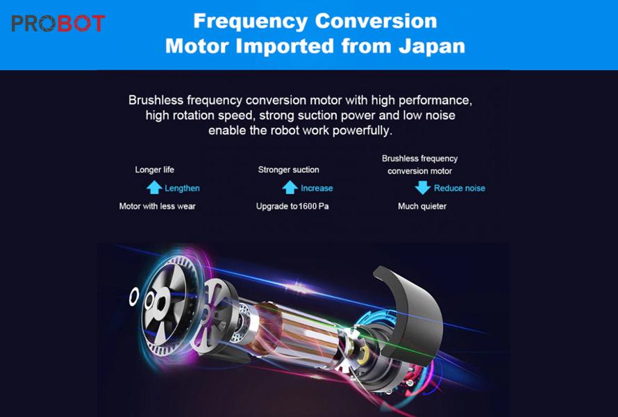 Probot Nelson A5S Pro, Robot hút bụi lau nhà điều khiển qua điện thoại, Alexa, Google