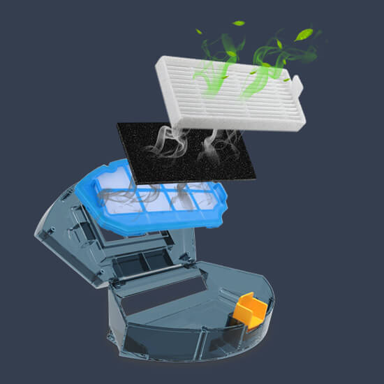 Probot Tesvor S6, Robot hút bụi lau nhà định vị Laser AI, 2700 Pa