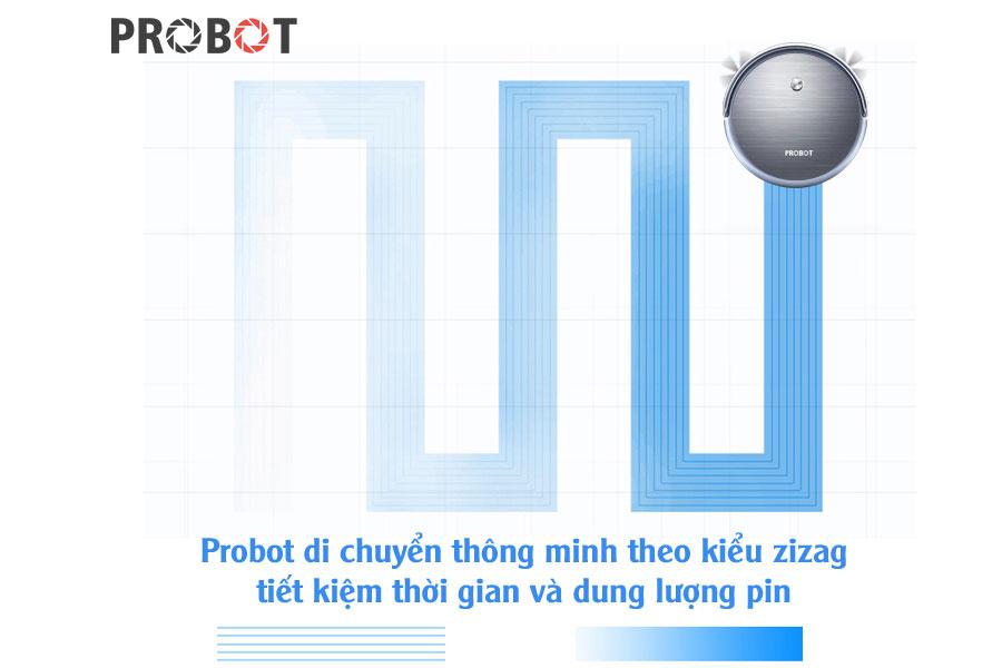 Robot hút bụi lau nhà Probot Nelson A3 màu xám ghi 2018