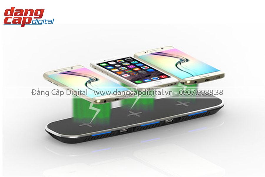 Sạc nhanh không dây 3 in 1 cho IOS/ Android