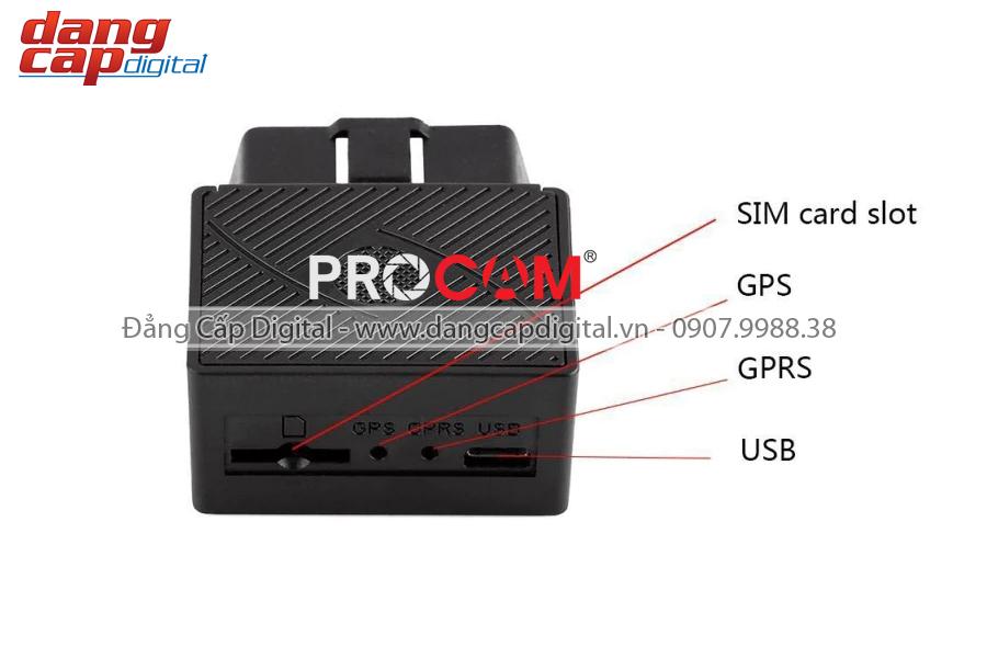 Thiết bị định vị GPS, giám sát hành trình oto PROCAM Tracker ODB 68