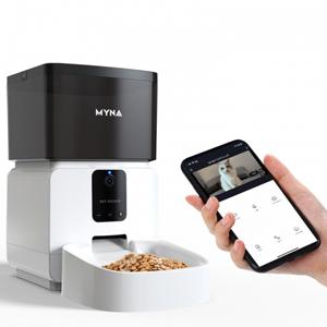 Máy cho chó mèo ăn tự động MyNa tích hợp APP WiFi và Camera quan sát